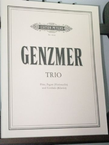 Genzmer H - Trio for Flute Bassoon (or Cello) & Harpsichord (or Piano)